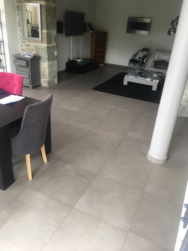 grand carreaux moderne gris