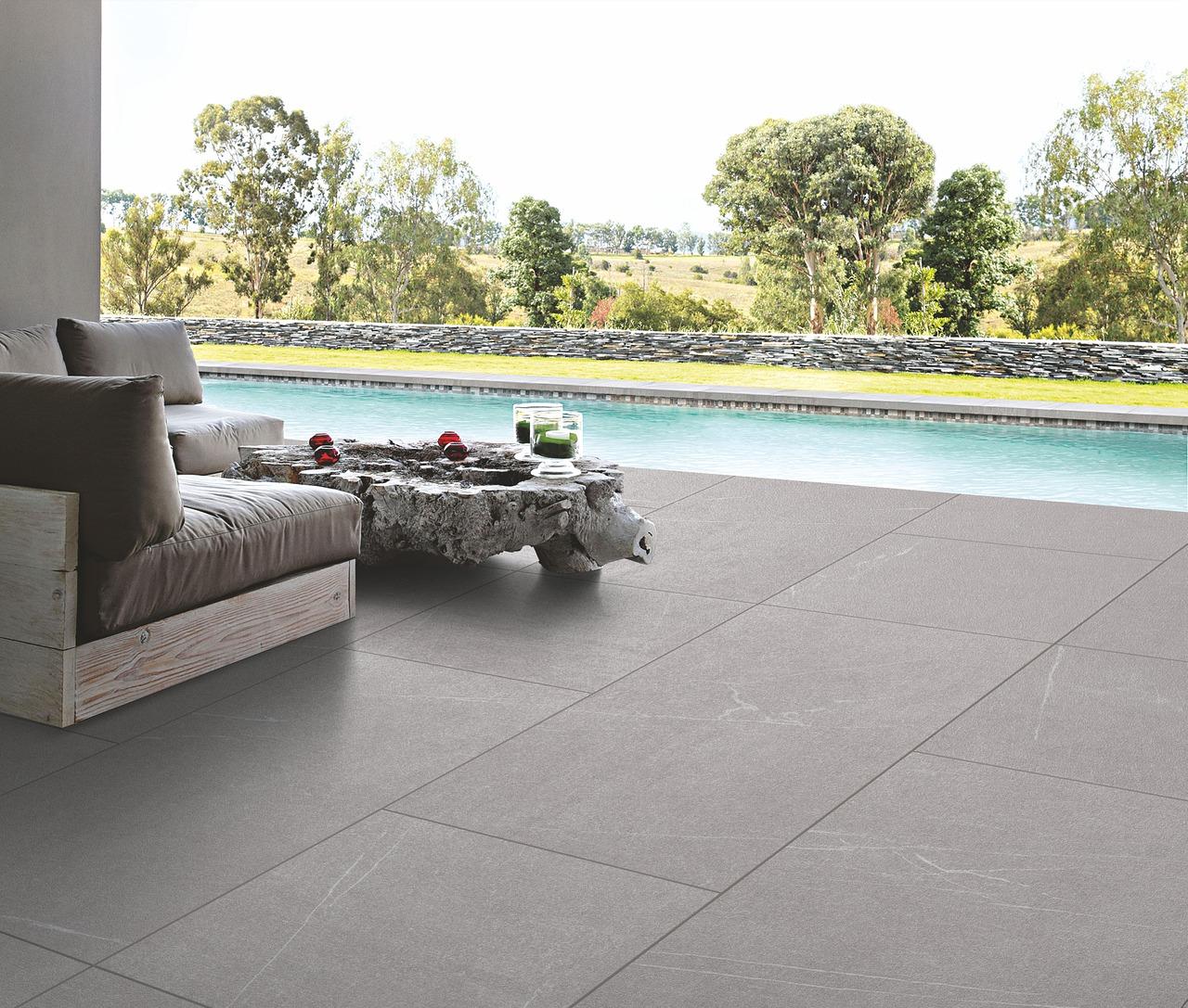 Carreaux 60x120 terrasse gris